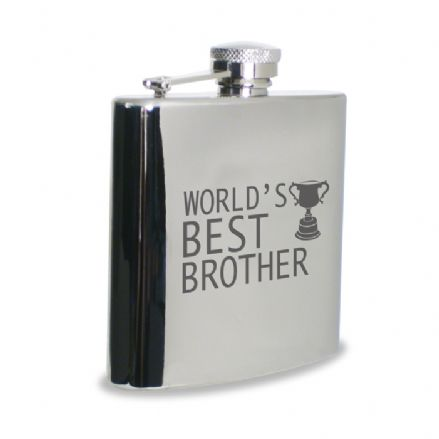 World's Best Brother Hip Flask
